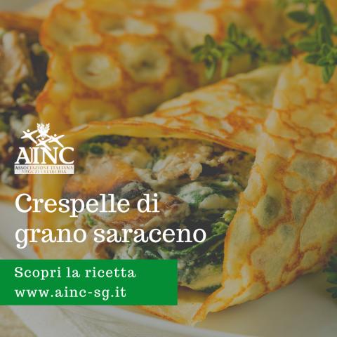 Le ricette di AINC: Crespelle di grano saraceno