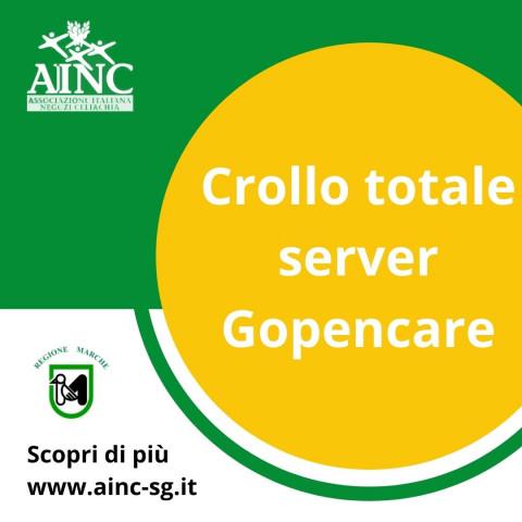 Crollo totale server Gopencare