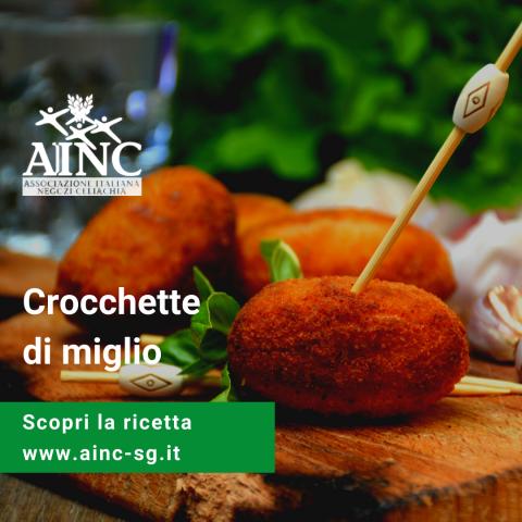 Le ricette di AINC: Crocchette di miglio