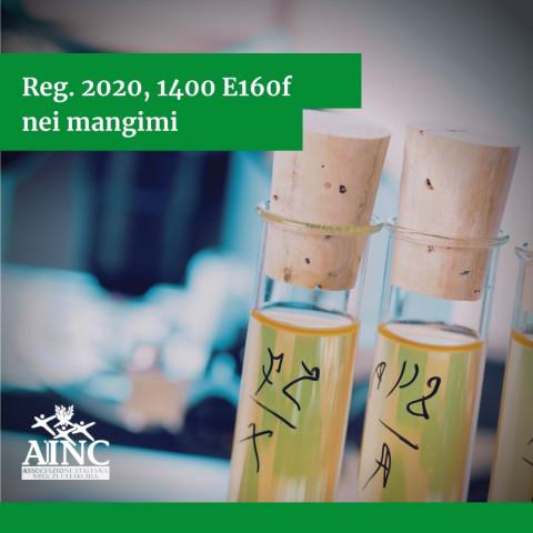 Reg. 2020, 1400 E160f nei mangimi
