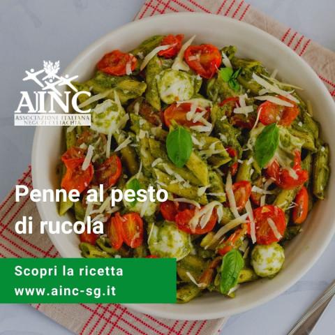 Le ricette di AINC: Penne al pesto di rucola