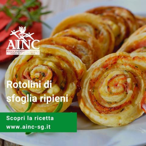 Le ricette di AINC: Rotolini di sfoglia ripieni