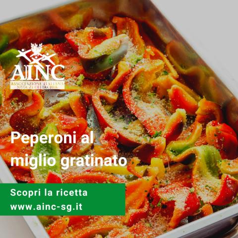 Le ricette di AINC: Peperoni al miglio gratinato