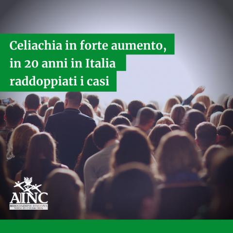 Celiachia in forte aumento, in 20 anni in Italia raddoppiati i casi