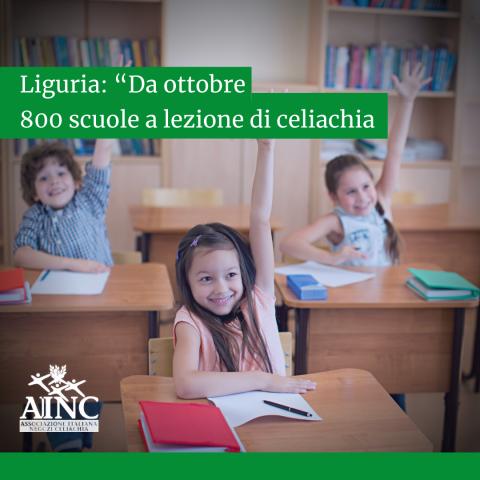 """Liguria: """"Da ottobre 800 scuole a lezione di celiachia"""